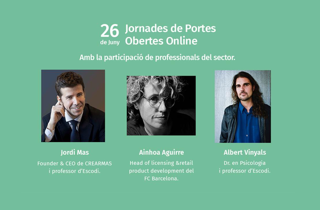 Jornada de portes obertes online a Escodi