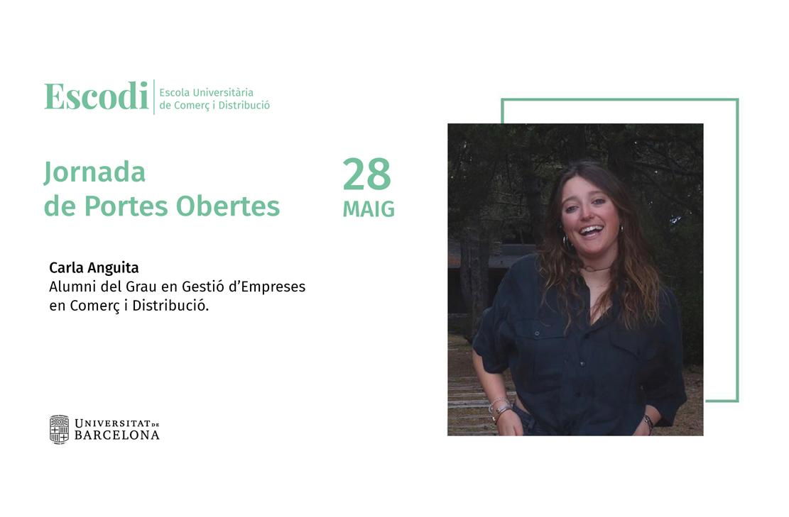 Carla Anguita et convida a la Jornada de Portes Obertes d'Escodi